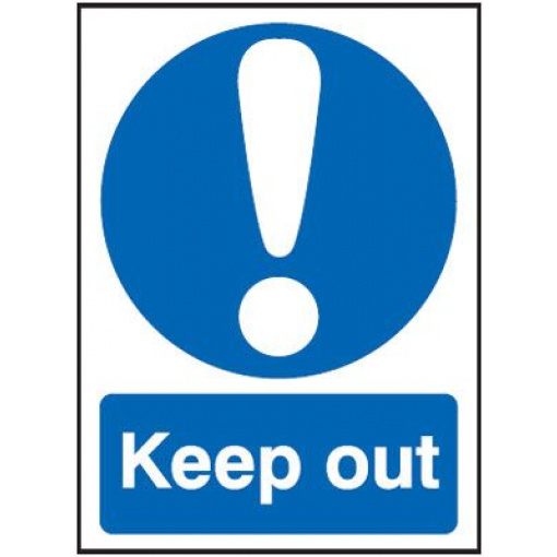 Keep Out Mandatory Safety Sign