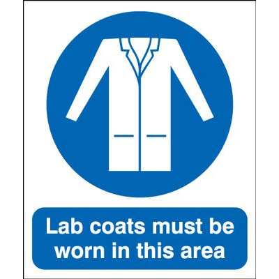 Lab Coats Must Be Worn In This Area Safety Sign