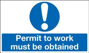 Permit To Work Must Be Obtained Mandatory Safety Sign - Landscape