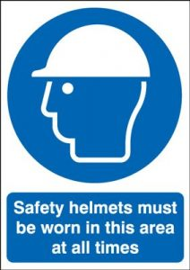 Safety Helmets Must Be Worn In This Area - Landscape