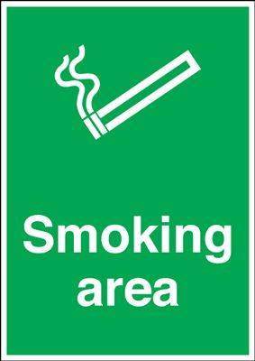 Smoking Area Safe Condition Safety Sign - Portrait