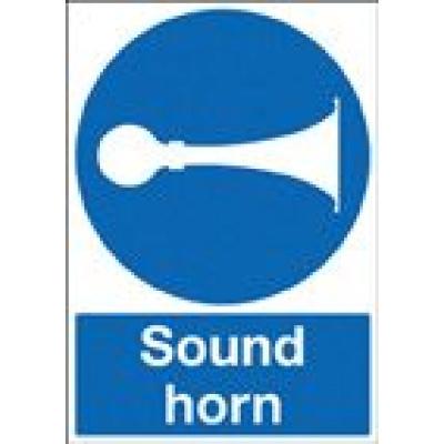 Sound Horn Mandatory Safety Sign - Portrait