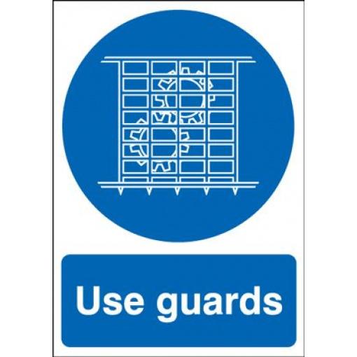 Use Guards Mandatory Safety Sign - Portrait