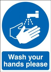 Wash Your Hands Please Safety Sign - Portrait