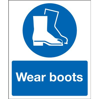 Wear Boots Mandatory Safety Sign