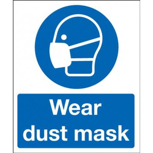 Wear Dust Mask Mandatory Safety Sign - Portrait