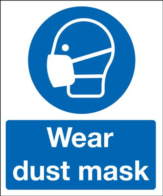 Wear Dust Mask Mandatory Safety Sign - Portrait