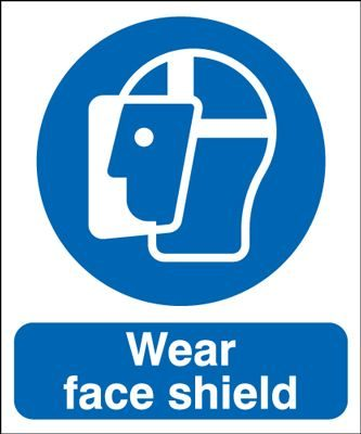 Wear Face Shield Mandatory Safety Sign - Portrait