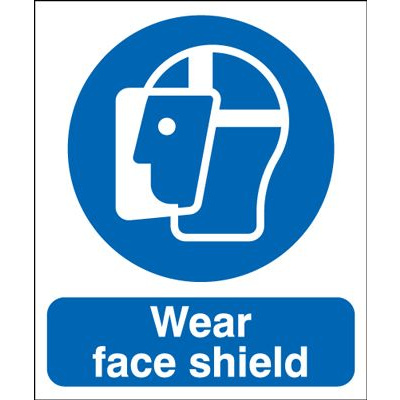 Wear Face Shield Mandatory Safety Sign - Portrait