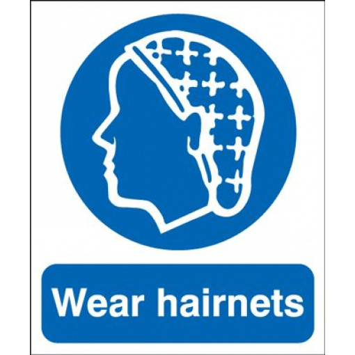 Wear Hairnets Mandatory Safety Sign