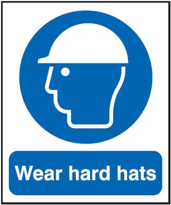Wear Hard Hats Mandatory Safety Sign