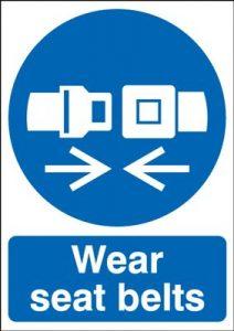 Wear Seat Belts Mandatory Safety Sign - Portrait