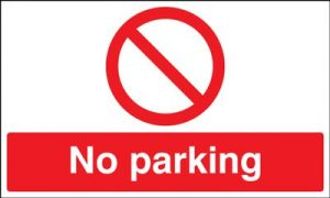 No Parking Safety Sign - Landscape