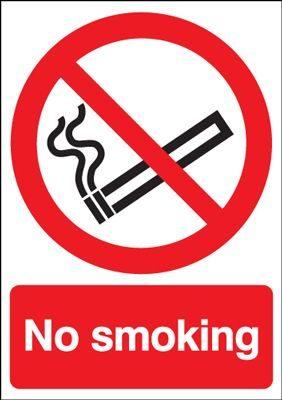 No Smoking Safety Sign - Portrait