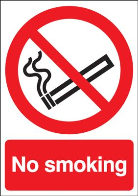 No Smoking Safety Sign - Portrait