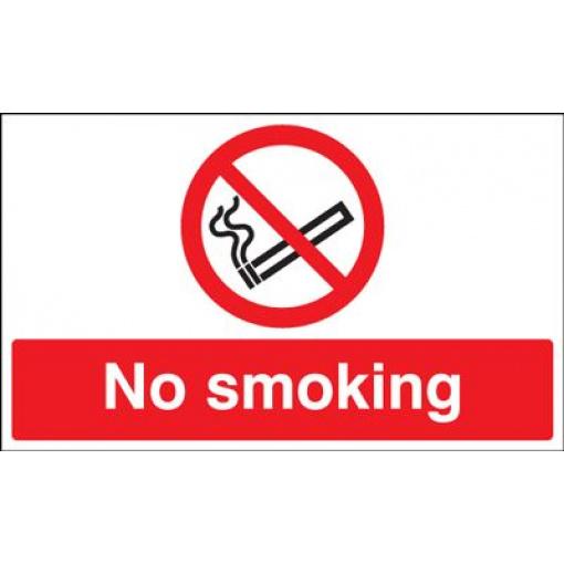 No Smoking Safety Sign - Landscape