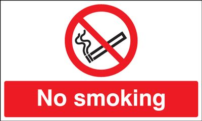 No Smoking Safety Sign - Landscape