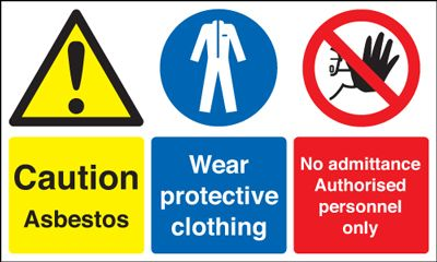 Danger Asbestos Wear Protective Clothing Safety Sign