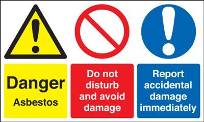 Danger Asbestos / Report Damage Immediately Safety Sign