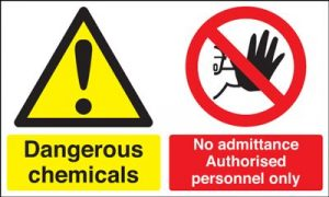 Chemicals / No Admittance Authorised Personnel Safety Sign
