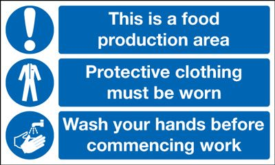 Food Production Area Wash Your Hands Multi Message Safety