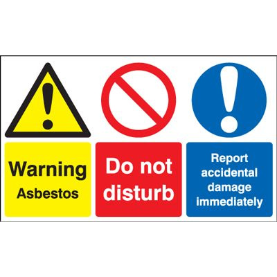 Warning Asbestos / Do Not Disturb Avoid Damage Safety Sign