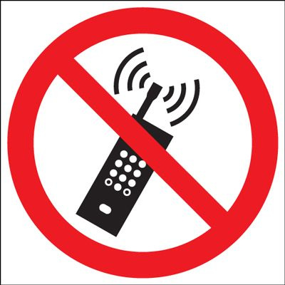 Do Not Use Mobile Phones Prohibition Safety Sign