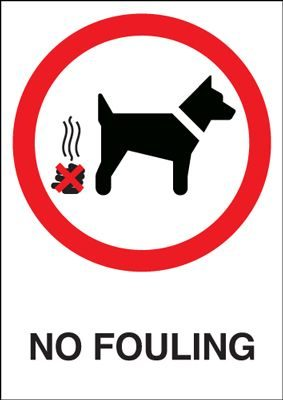 No Fouling Prohibition Safety Sign - Portrait