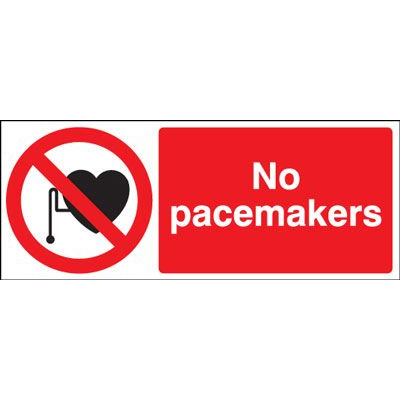 No Pacemakers Safety Sign