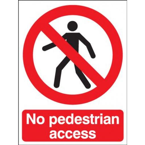 No Pedestrians Access Sign