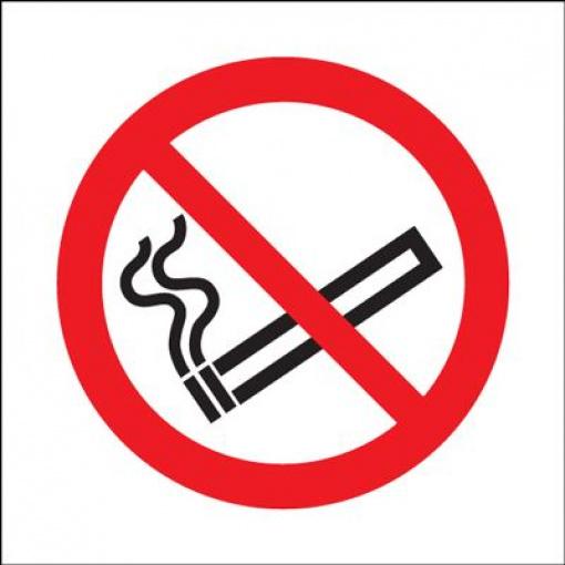 No Smoking Symbol Safety Sign - Square