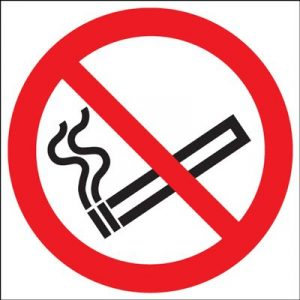 No Smoking Symbol Safety Sign - Die Cut Circlular