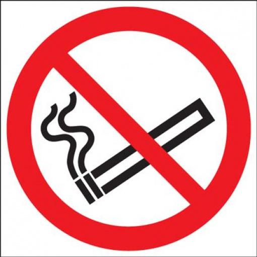 No Smoking Symbol Safety Sign - Die Cut Circlular