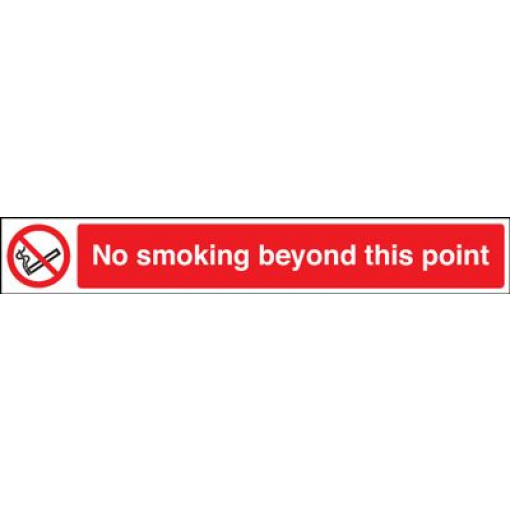 No Smoking Beyond This Point Safety Sign - Landscape