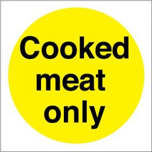 Cooked Meat Only Self Adhesive