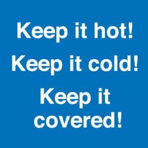 Keep it Hot Keep it Cold Self Adhesive
