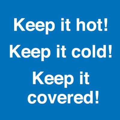 Keep it Hot Keep it Cold Self Adhesive