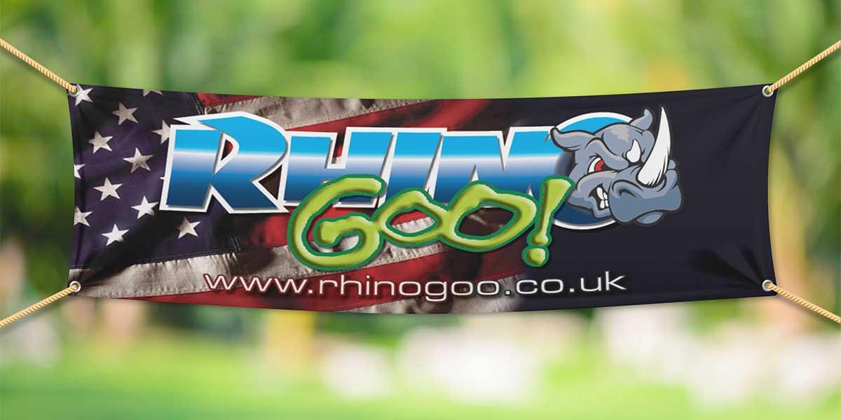 Blitz Media Print Banner Rhino Goo