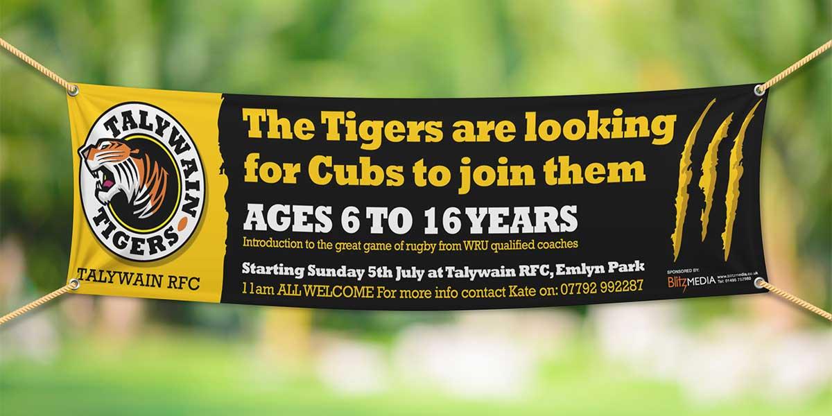 Blitz Media Print Banner Talywain TIgers