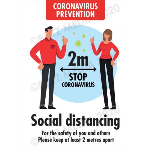 Blitz Media Coronavirus Signs Coronavirus-Prevention Social Distancing