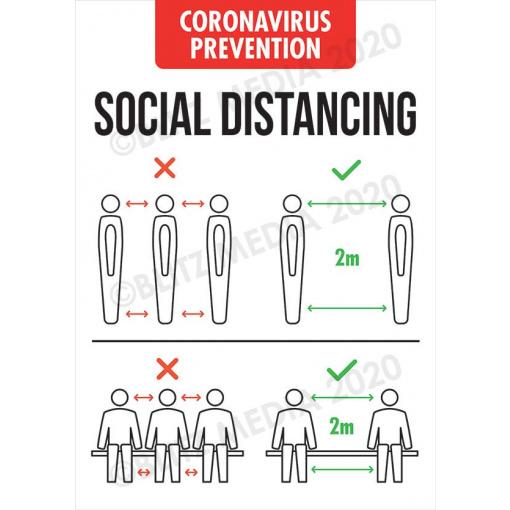 Blitz Media Coronavirus Signs Coronavirus Prevention Social Distancing Poster Do Dont