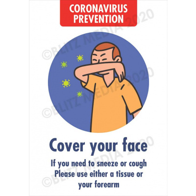 Blitz Media Coronavirus Signs Schools Coronavirus Prevention Cover Face Poster