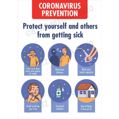 Blitz Media Coronavirus Signs Schools Coronavirus Prevention Multi Poster