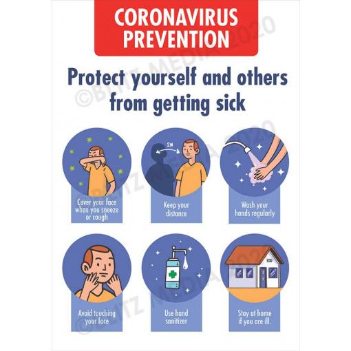 Blitz Media Coronavirus Signs Schools Coronavirus Prevention Multi Poster