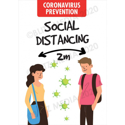 Blitz Media Coronavirus Signs Schools Coronavirus Prevention Social Distancing 2m