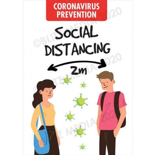 Blitz Media Coronavirus Signs Schools Coronavirus Prevention Social Distancing 2m