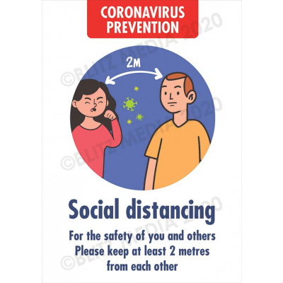 Blitz Media Coronavirus Signs Schools Coronavirus Prevention Social Distancing Poster