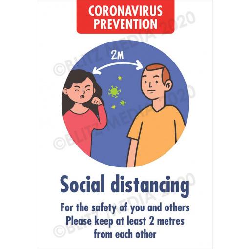 Blitz Media Coronavirus Signs Schools Coronavirus Prevention Social Distancing Poster