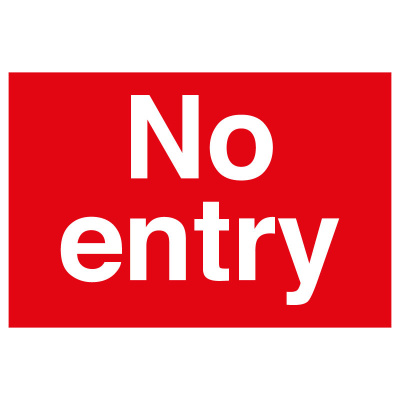 BLZ-COV19-22 No Entry