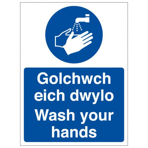 BLZ COV19 25 Wash your hands welsh